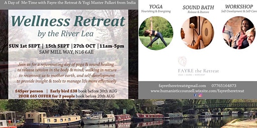 Wellness Day-Retreat by peaceful London River Lee  |YOGA + SOUND +WORKSHOP|