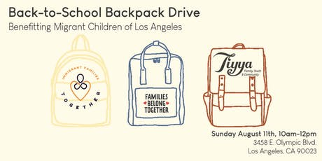 Back-to-School Backpack Drive 2019 tickets