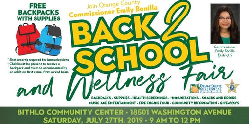Bithlo Community 2019 Back to School and Wellness Fair