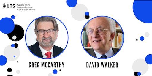 Reflections on Australia-China relations: Greg McCarthy and David Walker
