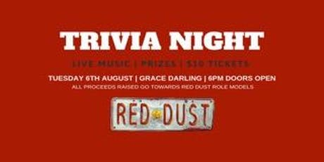 Trivia night - Fundraiser for Red Dust Role Models tickets