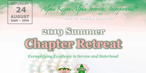 Phi  Pi Omega  Chapter Retreat