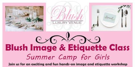 Blush Image & Etiquette Class tickets