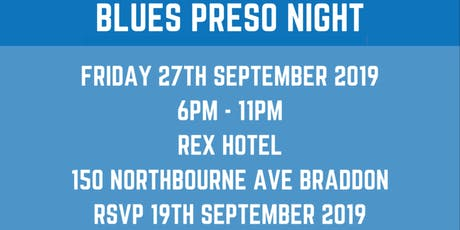 Queanbeyan Blues Presentation Night  tickets