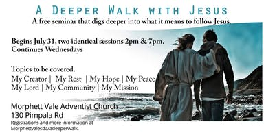 A deeper walk with Jesus