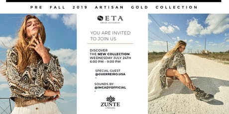 PRE FALL COLLECTION 2019 ARTISAN GOLD BY SETA APPAREL tickets