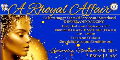 A Rhoyal Affair - Celebrating 97 years of Service and Sisterhood tickets