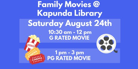 Saturday Family Movies @ Kapunda Library tickets