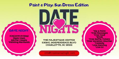 Date Night: Sip & Paint, Comedy, Free Food tickets
