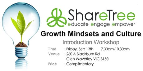 Growth Mindsets and Culture Complimentary Introduction Workshop  Sep 2019 tickets