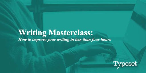 Masterclass: How to improve your writing in less than four hours (PERTH)