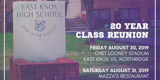 East Knox Class of 1999 - 20 years!