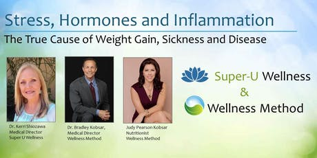 Stress, Hormones & Inflammation- The True Cause of Sickness & Disease tickets