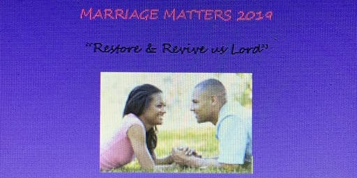 Marriage Matters 2019