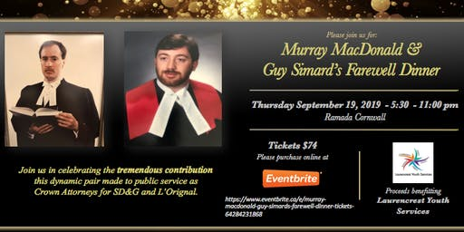 Murray MacDonald & Guy Simard's Farewell Dinner