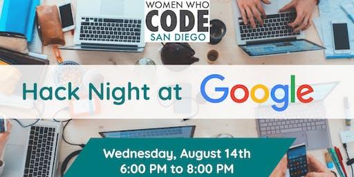 Women Who Code - Hack Night @ Google