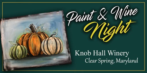 Knob Hall Winery Paint Event - Pumpkins on Canvas