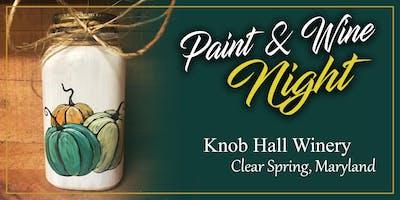 **** Hall Winery Paint Event - Pumpkins on a Jar