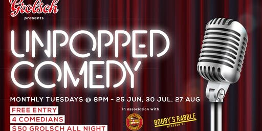 Unpopped Comedy Night - in association with Grolsch