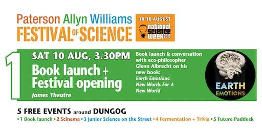 Festival of Science opening + Glenn Albrecht book launch