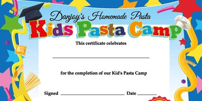 Kid's Pasta Camp - July 29th - Aug 1st