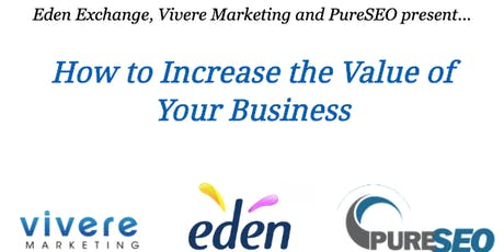 Seminar - How to Increase the Value of Your Business tickets