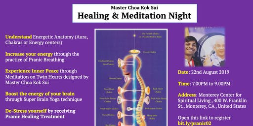 Healing & Meditation Night (Monterey, 22nd August)