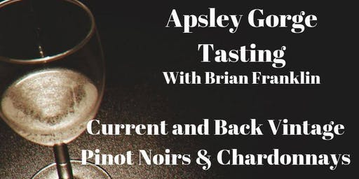 Sold Out - Apsley Gorge Tasting with Brian Franklin