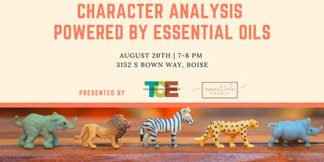 Character Analysis Powered by Essential Oils tickets