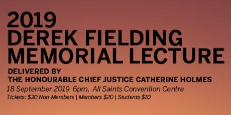 QCCL - Derek Fielding Memorial Lecture 2019 tickets