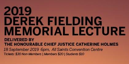 QCCL - Derek Fielding Memorial Lecture 2019m