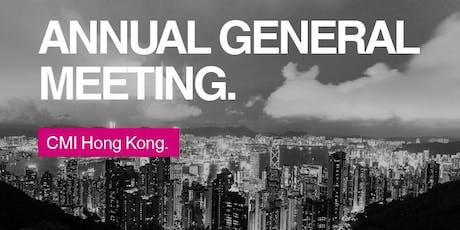 CMI Hong Kong AGM & Annual Dinner 2019 tickets