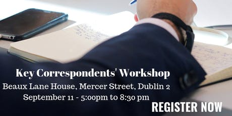 Key Correspondents' Workshop tickets