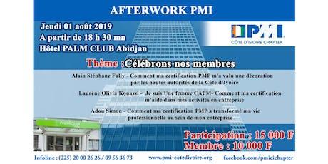 """Afterwork PMI: """"Célébrons nos membres""""  billets"""