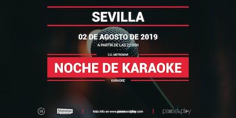 Noche de karaoke en SEVILLA C.C. METROMAR entradas