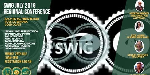 SWIG JULY 2019 Gold Coast Regional Conference