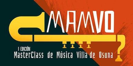 Master Class MAMVO Percusión - Agustín Jiménez biglietti
