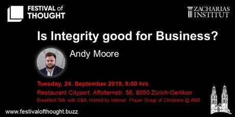 "FoT - Breakfast Talk: Andy Moore ""Is Integrity good for Business?"" tickets"