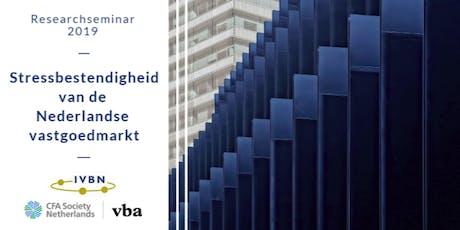 Researchseminar : Stressbestendigheid van de Nederlandse vastgoedmarkt tickets