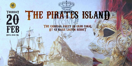 The Carnival party on Gran Canal at Ca' Nigra - The Pirates Island