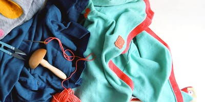 Visible Mending Darning Clothes Upcycle Workshop!
