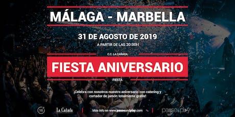 Fiesta aniversario en Pause&Play La Cañada entradas