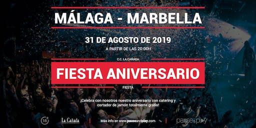 Fiesta aniversario en Pause&Play La Cañada