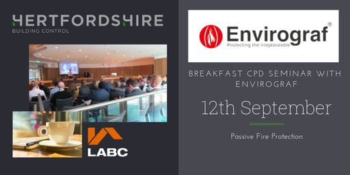 Hertfordshire Building Control Breakfast CPD Seminar with Envirograf