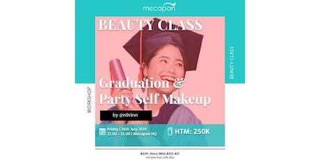 "Beauty Class ""Graduation & Party Self Makeup"" by @n9rinn tickets"