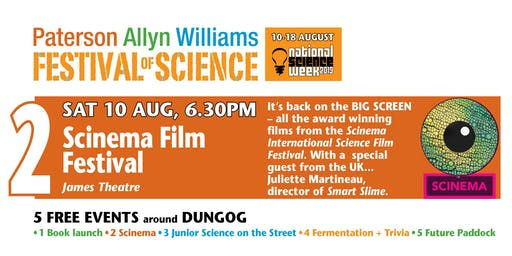 Festival of Science – SCINEMA: Science Film Festival +  filmmaker talk