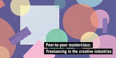 Peer-to-peer masterclass: freelancing in the creative industries tickets
