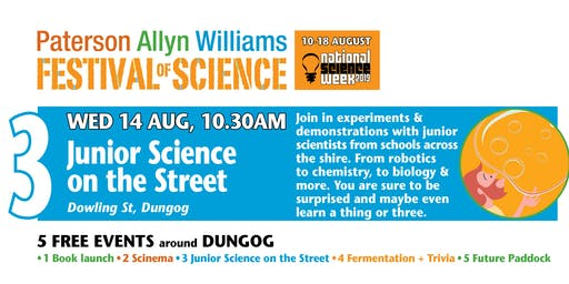 Festival of Science – Junior Science on the Street