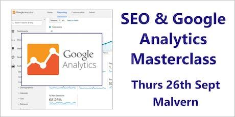 SEO & Google Analytics Masterclass - Malvern, Worcester tickets