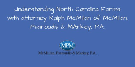 Understanding North Carolina Forms with Ralph McMillan tickets